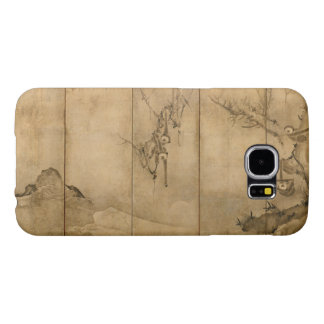 Japanese Ink on paper Gibbons Primates & Landscape Samsung Galaxy S6 Cases