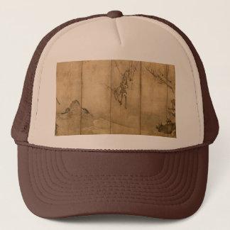 Japanese Ink on paper Gibbons Primates & Landscape Trucker Hat