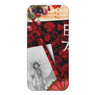 Japanese Inspired Red and Black iPhone Case