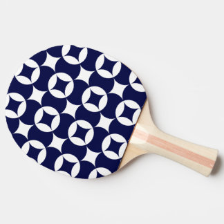 Japanese interlocking circles in Delft Blue Ping Pong Paddle