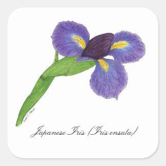 Japanese Iris Blossom Botanical Seal