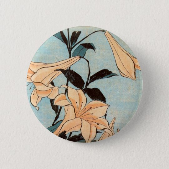 Japanese Irises 2 Inch Round Button