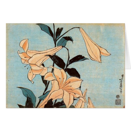 Japanese Irises Card
