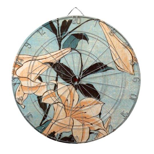 Japanese Irises Dartboard