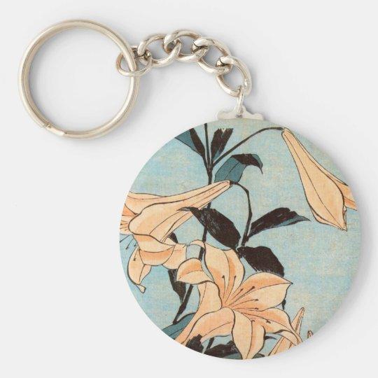 Japanese Irises Keychain
