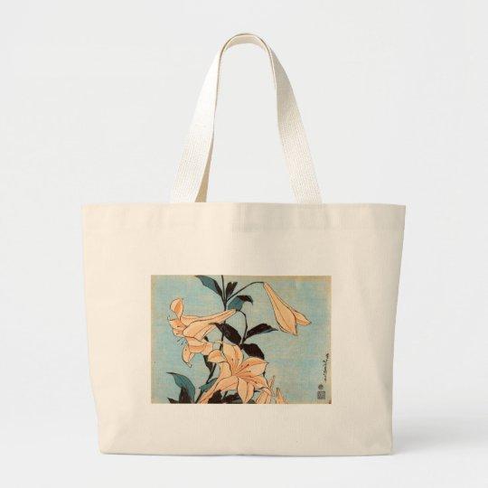 Japanese Irises Large Tote Bag