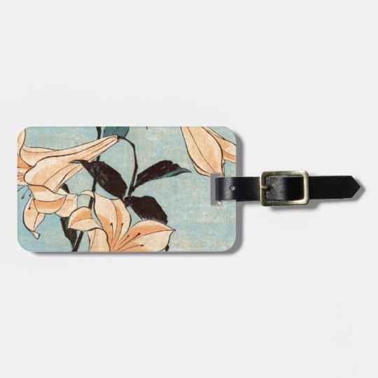 Japanese Irises Luggage Tag