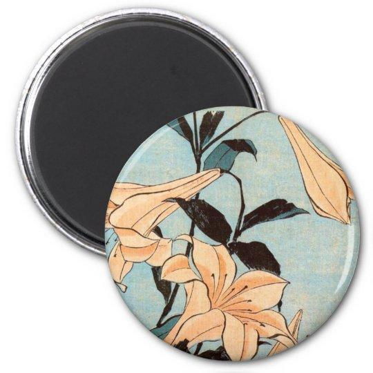 Japanese Irises Magnet
