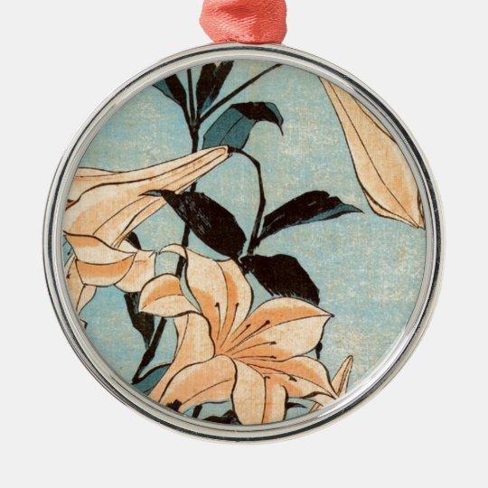 Japanese Irises Metal Ornament
