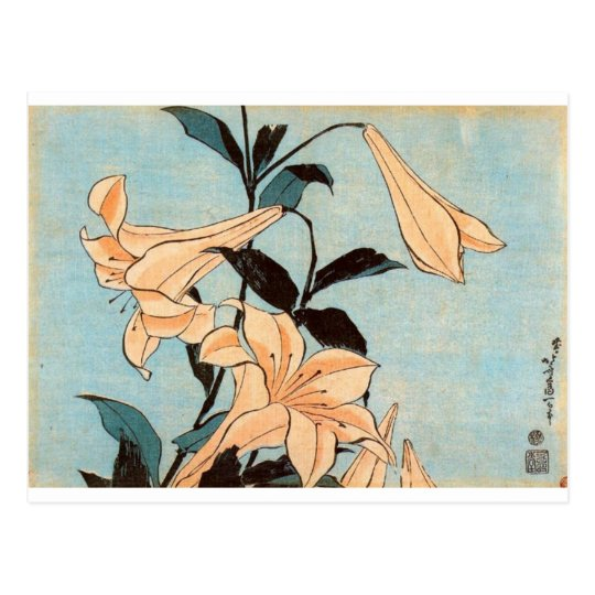 Japanese Irises Postcard