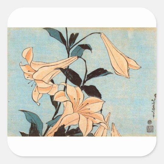 Japanese Irises Square Sticker