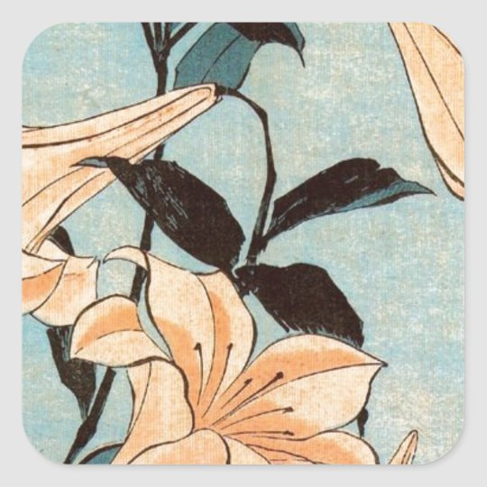 Japanese Irises Square Sticker
