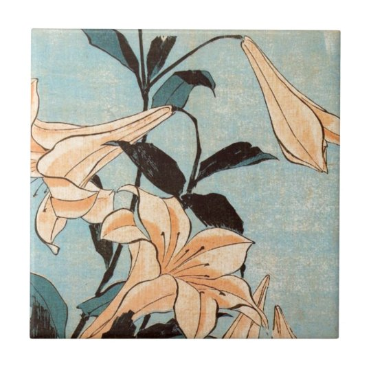 Japanese Irises Tile