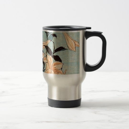 Japanese Irises Travel Mug
