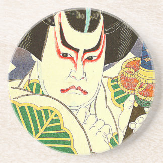Japanese Kabuki Actor Art by Natori Shunsen 名取春仙 Coaster