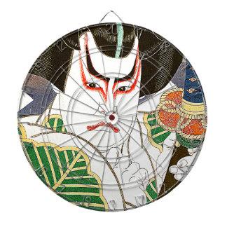 Japanese Kabuki Actor Art by Natori Shunsen 名取春仙 Dartboard