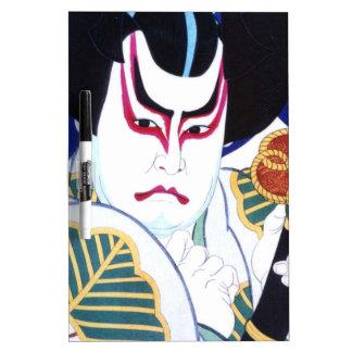 Japanese Kabuki Actor Art by Natori Shunsen 名取春仙 Dry Erase Board