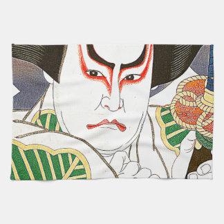 Japanese Kabuki Actor Art by Natori Shunsen 名取春仙 Kitchen Towels