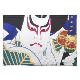 Japanese Kabuki Actor Art by Natori Shunsen 名取春仙 Placemat