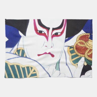 Japanese Kabuki Actor Art by Natori Shunsen 名取春仙 Towel