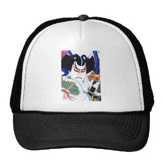 Japanese Kabuki Actor Art by Natori Shunsen 名取春仙 Trucker Hat