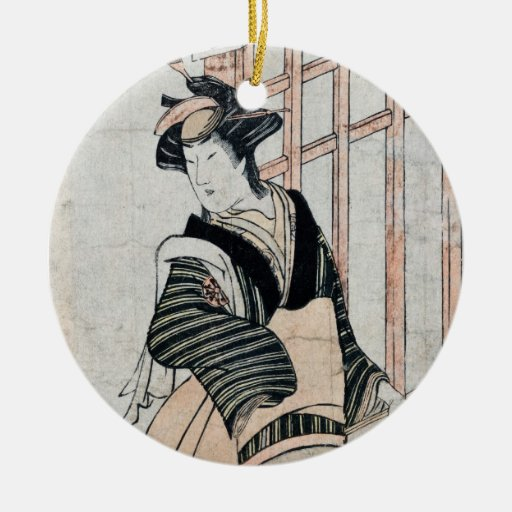 Japanese Kabuki Theater Actor ornament