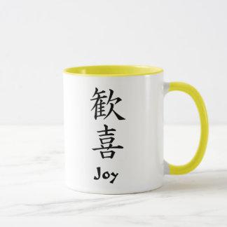 Japanese Kanji: Joy Mug