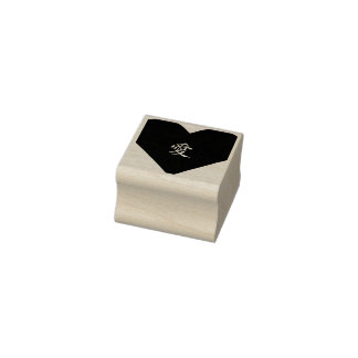 Japanese Kanji Love Ai Heart Art Craft DIY Wood Rubber Stamp