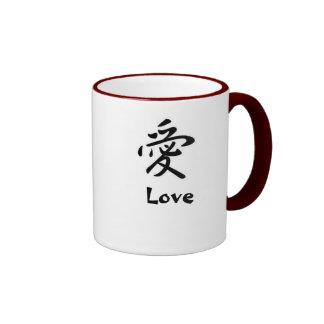 Japanese Kanji: Love Ringer Coffee Mug