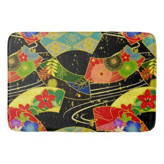 Japanese Kimono Fabric styled bath mat