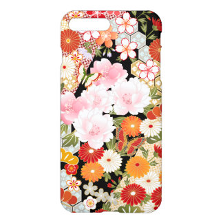 Japanese Kimono Flower Pattern Savvy iPhone 7 Plus iPhone 8 Plus/7 Plus Case