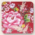 Japanese Kimono Flowers Coaster