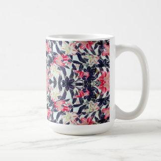Japanese Kimono Lily Flowers Art Mug