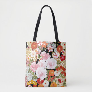 Japanese Kimono Patterns All-over_Print Tote Bag