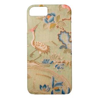 Japanese KIMONO Textile, Crane & Flower iPhone 7 Case