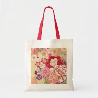 Japanese KIMONO Textile, Flower