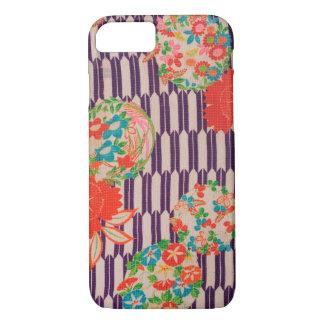Japanese KIMONO Textile, Flower iPhone 8/7 Case