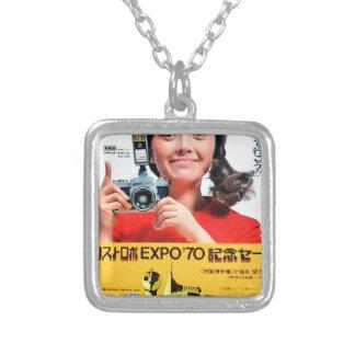 Japanese Kodak Camera Poster Advertisement Silver Plated Necklace