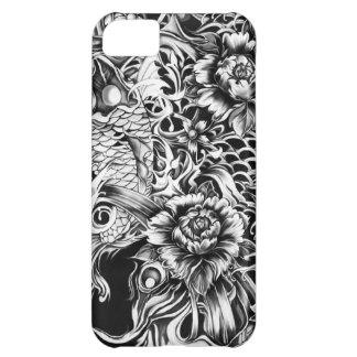 Japanese koi and lotus flowers tattoo style art iPhone 5C case