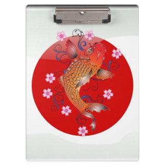 Japanese koi carp clipboards
