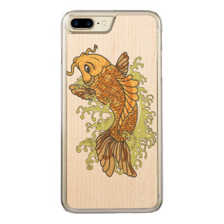 Japanese Koi Carved iPhone 7 Plus Case