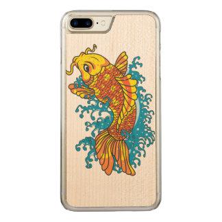Japanese Koi Carved iPhone 8 Plus/7 Plus Case