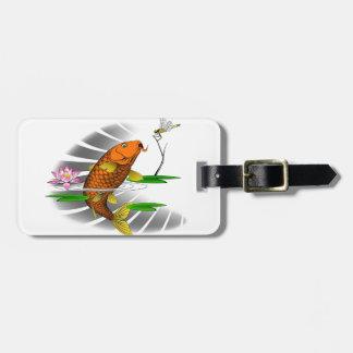 Japanese Koi Fish Pond Design Bag Tag