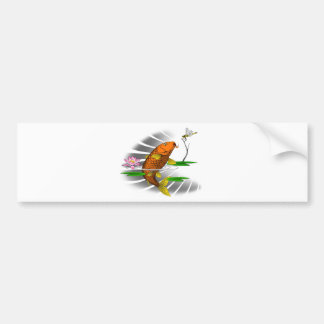 Japanese Koi Fish Pond Design Bumper Sticker