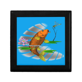 Japanese Koi Fish Pond Design Gift Box