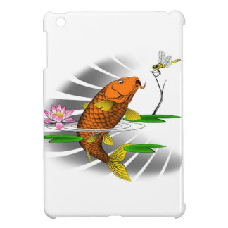 Japanese Koi Fish Pond Design iPad Mini Cover