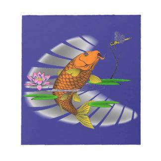 Japanese Koi Fish Pond Design Notepad