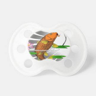 Japanese Koi Fish Pond Design Pacifier