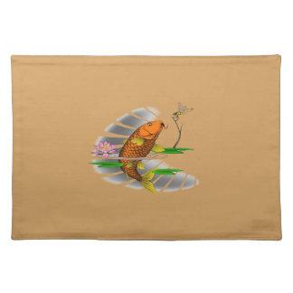 Japanese Koi Fish Pond Design Placemat