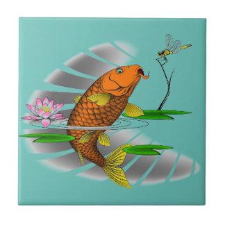 Japanese Koi Fish Pond Design Tile
